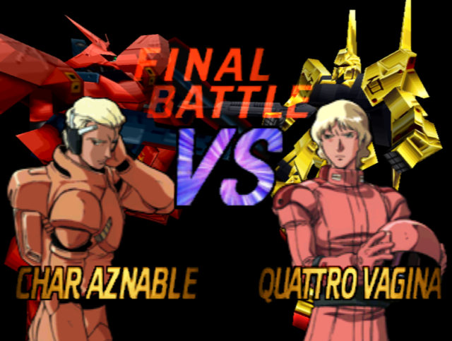 The deciding factor in the Char-Quattro feud. Who wants to vote for a Vagina?