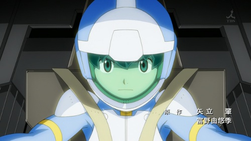 Young Flit Asuno in a pilot suit
