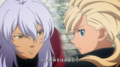 Asemu and Zeheart looking at each other