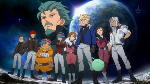 Gundam AGE OP2 group shot