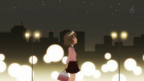 Yuno walking in the night